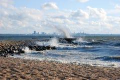 Tempesta sul mare Fotografia Stock Libera da Diritti