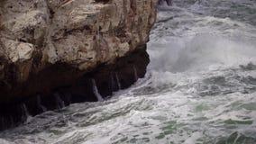 Tempesta sul mare nel Mar Nero archivi video