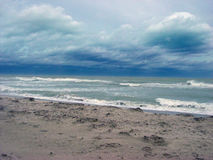 Tempesta sull'oceano Fotografia Stock