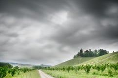Tempesta sulla località di soggiorno fotografie stock libere da diritti