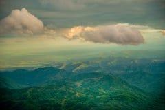 Tempesta sulla montagna Fotografia Stock