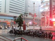 Tempesta in Taipei Fotografie Stock
