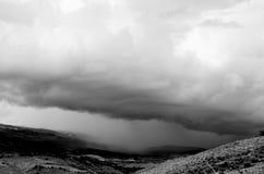 Tempesta in valle Immagini Stock Libere da Diritti