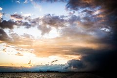 Tempesta veneziana fotografia stock libera da diritti