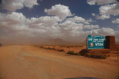 Tempestad de arena Fotos de archivo