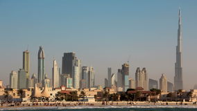 Tempestad de arena en Dubai almacen de metraje de vídeo
