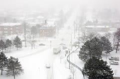 Tempestad de nieve Imagenes de archivo