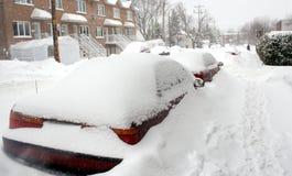 Tempestad de nieve en Montreal. Imagen de archivo libre de regalías