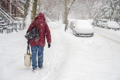Tempestad de nieve en Montreal Imagen de archivo libre de regalías