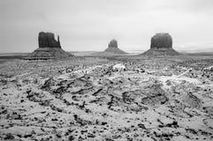 Tempestad de nieve, parque tribal de Navajo del valle del monumento foto de archivo libre de regalías