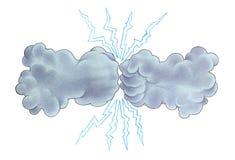 Tempestad de truenos stock de ilustración