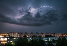 Tempestad de truenos Foto de archivo libre de regalías