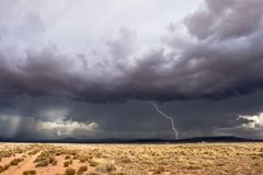Tempestad de truenos Fotografía de archivo