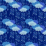 Tempestad de truenos adornos 1950s-1960s Colección retra de la materia textil libre illustration