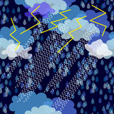Tempestad de truenos adornos 1950s-1960s Colección retra de la materia textil ilustración del vector