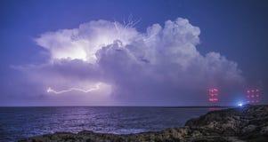 Tempestad de truenos de Cavo Greco Foto de archivo libre de regalías