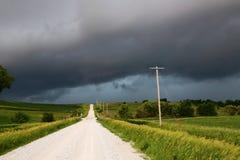 Tempestad de truenos de Iowa Fotos de archivo