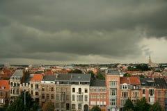 Tempestad de truenos de la ciudad Imagen de archivo libre de regalías