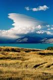 Tempestad de truenos de la montaña Fotografía de archivo