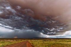 Tempestad de truenos de la monzón Imágenes de archivo libres de regalías