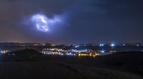 Tempestad de truenos de Nicosia Foto de archivo
