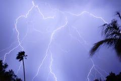 Tempestad de truenos del relámpago Fotografía de archivo libre de regalías