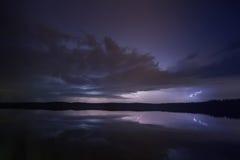 Tempestad de truenos del Supercell imagen de archivo