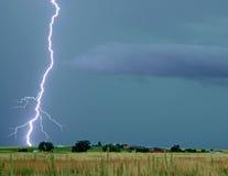 Tempestad de truenos del verano Imagen de archivo libre de regalías