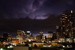 Tempestad de truenos en Austin Texas Fotografía de archivo