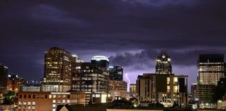 Tempestad de truenos en Austin Texas Foto de archivo