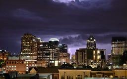Tempestad de truenos en Austin Texas Foto de archivo libre de regalías