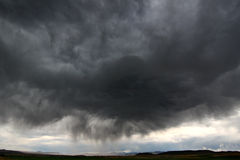 Tempestad de truenos en Idaho rural Foto de archivo
