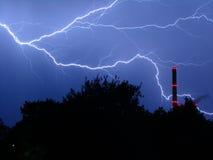 Tempestad de truenos en la noche 2 Foto de archivo libre de regalías