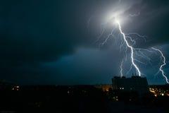 Tempestad de truenos en Minsk Imagen de archivo