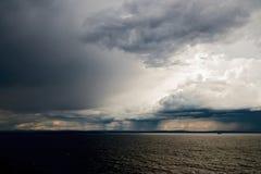 Tempestad de truenos en Noruega Imagenes de archivo