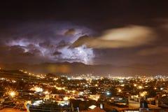 Tempestad de truenos en San Cristobal de Las Casas Imagen de archivo