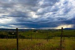 Tempestad de truenos entrante Fotografía de archivo