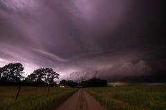 Tempestad de truenos severa cerca de Pierce, Nebraska fotos de archivo libres de regalías
