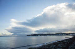 Tempestad de truenos sobre Douglas Bay Isle del hombre imágenes de archivo libres de regalías