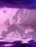 Tempestad de truenos sobre Europa Fotografía de archivo