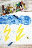 Tempestad de truenos y lluvia Fotografía de archivo