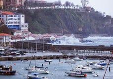 Tempestad en Bermeo Fotos de archivo
