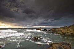Tempestad en Biarritz Imagen de archivo libre de regalías