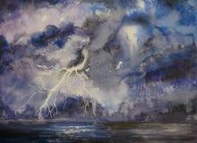 tempestade ilustração royalty free