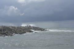 Tempestade żadny Mar_Storm przy morzem Zdjęcia Royalty Free