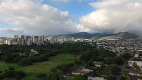 A tempestade aproxima a ilha Havaí de Oahu do arco do arco-íris de Honolulu filme