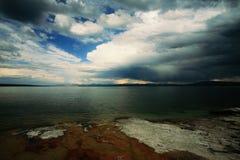 A tempestade aproxima o polegar ocidental Foto de Stock