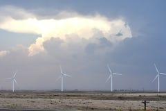 Tempestade através da pradaria de Texas fotos de stock