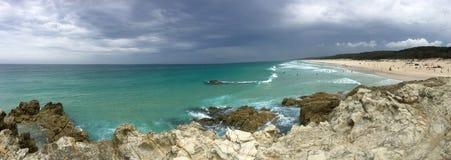 Tempestade australiana da praia imagens de stock