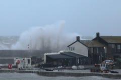 A tempestade Callum bate Dorset foto de stock royalty free
